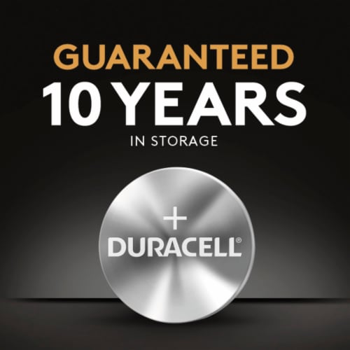 Duracell® 1620 Lithium Coin Battery Perspective: top