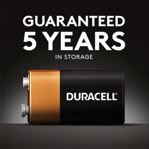 Duracell 9V Alkaline Batteries Perspective: top