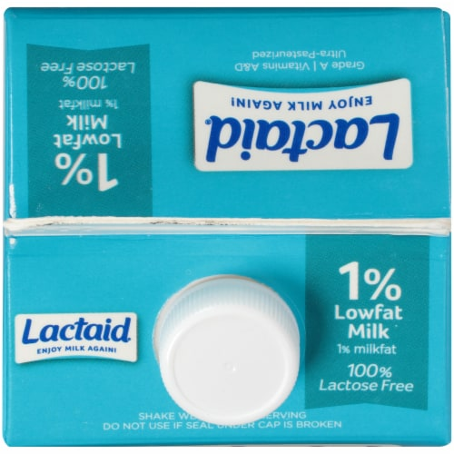 Lactaid 100% Lactose Free 1% Low Fat Milk Perspective: top