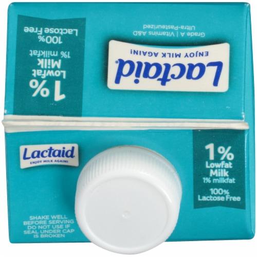 Lactaid 100% Lactose Free 1% Lowfat Milk Perspective: top