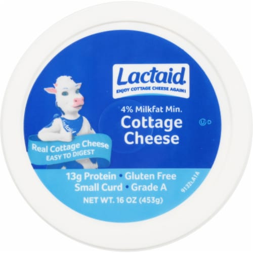 Lactaid® 4% Milkfat Lactose Free Cottage Cheese Perspective: top