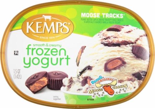 Kemps® Smooth & Creamy Denali Original Moose Tracks Frozen Yogurt Perspective: top