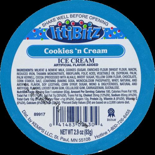 IttiBitz Cookies'N Cream Ice Cream Cup Perspective: top