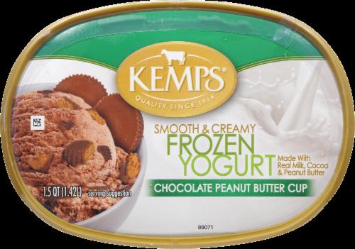 Kemp's Chocolate Peanut Butter Cup Frozen Yogurt Perspective: top