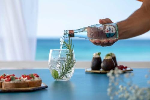 S. Pellegrino Tonica Oakwood Flavored Tonic Water Perspective: top
