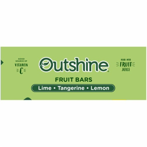 Outshine Lime Tangerine and Lemon Frozen Fruit Bars Perspective: top