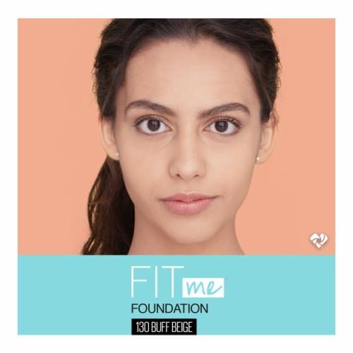 Maybelline Fit Me! Matte + Poreless 130 Buff Beige Liquid Foundation Perspective: top