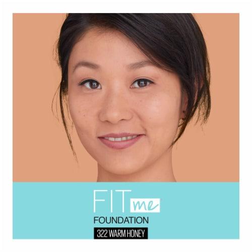 Maybelline Fit Me! Matte + Poreless 322 Warm Honey Liquid Foundation Perspective: top