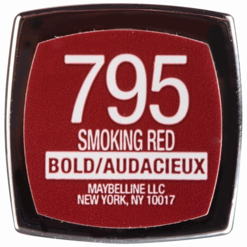 Maybelline Color Sensational Smoking 795 Red Lip Color Perspective: top