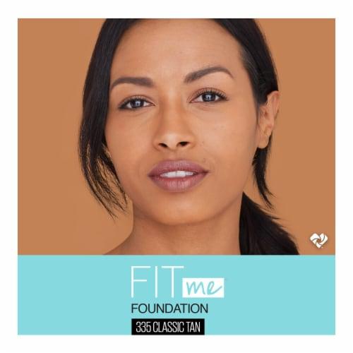 Maybelline Fit Me Matte & Poreless 335 Classic Tan Liquid Foundation Perspective: top