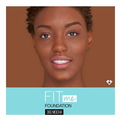 Maybelline Fit Me Matte + Poreless 360 Mocha Liquid Foundation Perspective: top