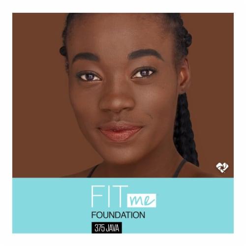 Maybelline Fit Me! Matte + Poreless 375 Java Liquid Foundation Perspective: top