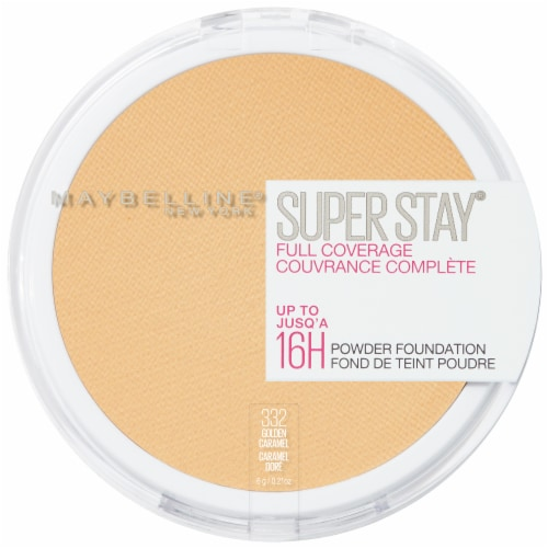 Maybelline Super Stay Full Coverage Golden Caramel Powder Foundation Perspective: top