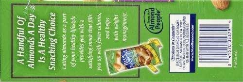 Blue Diamond Whole Natural Almonds 100 Calorie Bags Perspective: top