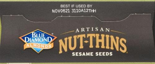 Blue Diamond Nut-Thins Artisan Sesame Seeds Almond Crackers Perspective: top