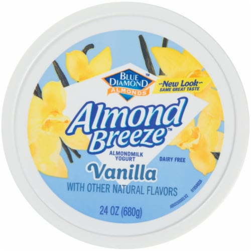 Blue Diamond Almond Breeze Vanilla Almondmilk Yogurt Alternative Perspective: top