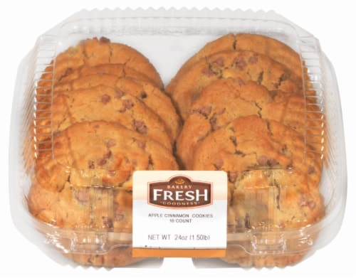Bakery Fresh Goodness Apple Cinnamon Soft Top Cookies Perspective: top