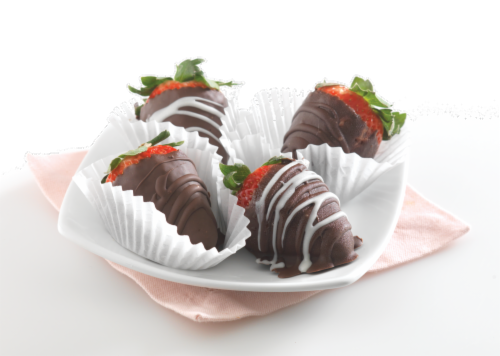Chocolate Dipped Strawberries Perspective: top