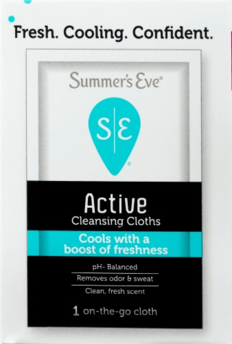 Summer's Eve Active Cleansing Cloths Perspective: top