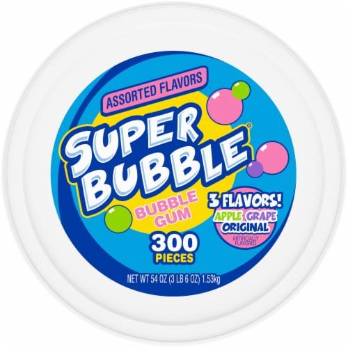 Super Bubble Apple Grape & Original Bubble Gum 300 Count Perspective: top