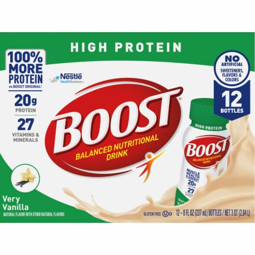 Boost® High Protein Very Vanilla Nutritional Drink Perspective: top