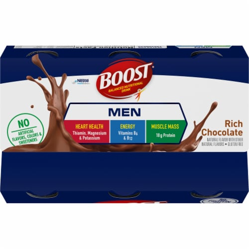Boost Men Rich Chocolate Balanced Nutritional Drink Perspective: top