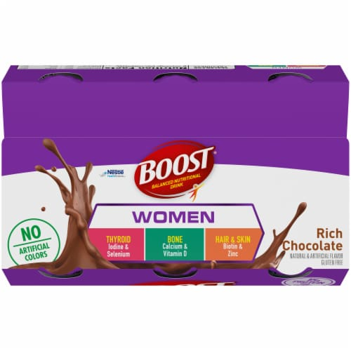 Boost Women's Rich Chocolate Nutritional Drink Perspective: top
