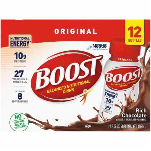 Boost® Original Rich Chocolate Balanced Nutritional Drink Perspective: top