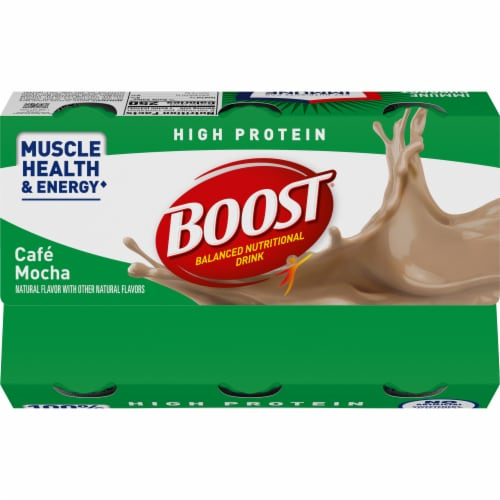Boost High Protein Cafe Mocha Protein Drink Perspective: top