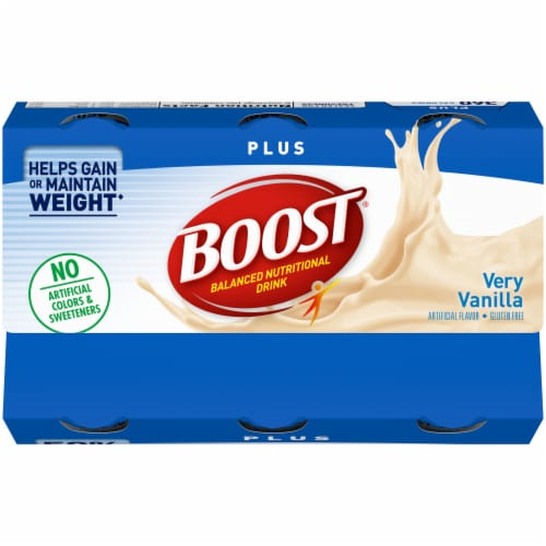 Boost Plus Very Vanilla Balanced Nutritional Drink 6 Count Perspective: top