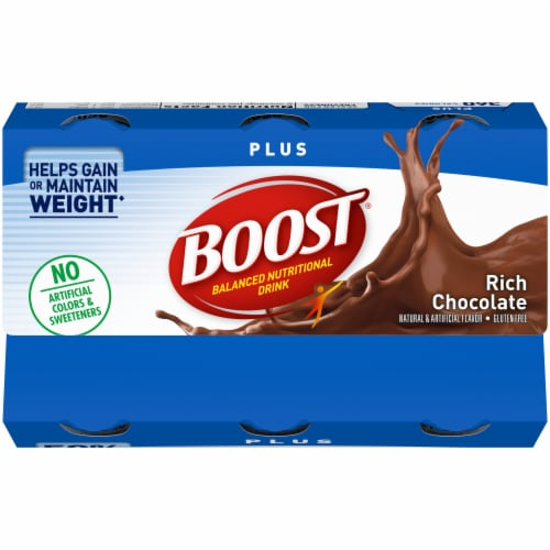 Boost® Plus Rich Chocolate Balanced Nutritional Drinks Perspective: top