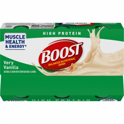 Boost High Protein Very Vanilla Balanced Nutritional Drink Perspective: top