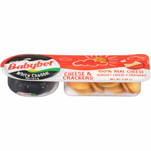 Mini Babybel White Cheddar Cheese & Crackers Perspective: top