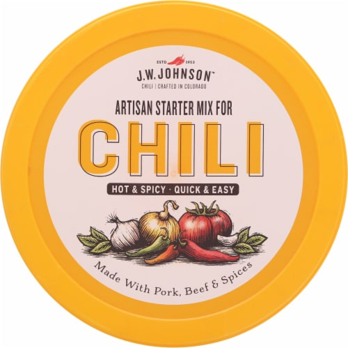 J.W. Johnson™ Hot & Spicy Artisan Starter Chili Mix Perspective: top