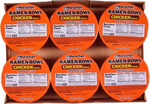 Maruchan Bowl Chicken Flavor Ramen Noodle Soup Perspective: top