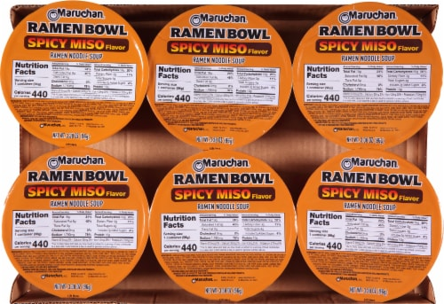 Maruchan® Taste of Asia™ Spicy Miso Ramen Bowl Perspective: top