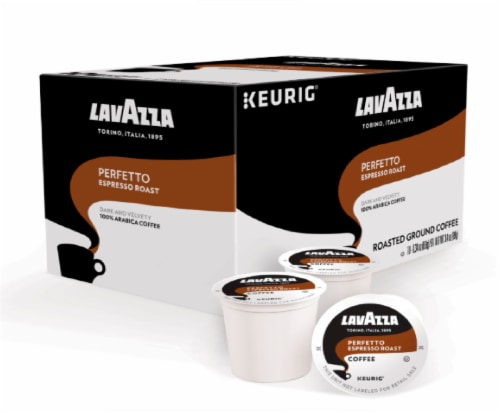 LavAzza Perfetto Espresso Roasted Ground Coffee K-Cup Pods Perspective: top