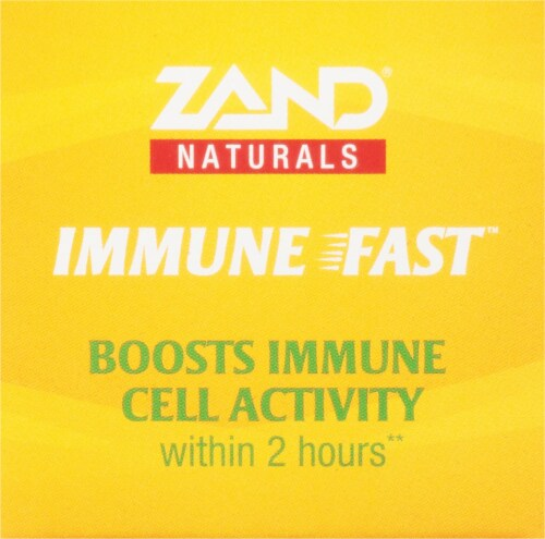Zand® Naturals Zesty Orange Immune Fast Immune Support Chewable Tablets Perspective: top