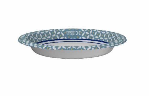 Dixie Ultra Deep Dish 9 9/16-Inch Printed Paper Plate Perspective: top