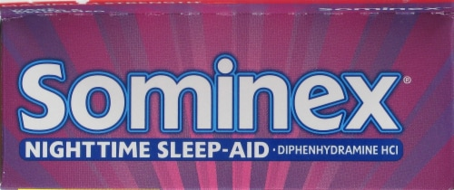 Sominex Nighttime Sleep Aid Caplets 16 Count Perspective: top