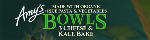 Amy's® Gluten Free 3 Cheese & Kale Bake Bowls Perspective: top