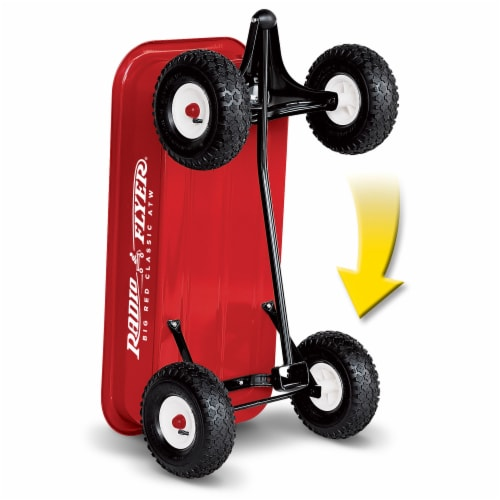 Radio Flyer 1800 Big Red Classic Extra Long Handle All Terrain Wheels Kids Wagon Perspective: top