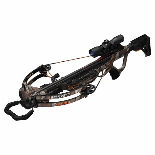 Barnett Explorer Series XP400 Hunting Compound Crossbow with Scope, Strike Camo Perspective: top