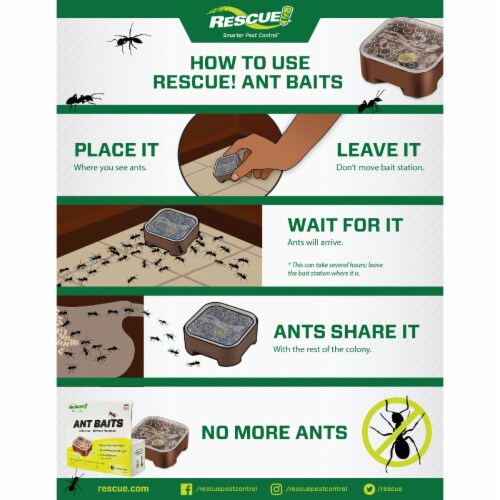 Rescue 1.92 Oz. Gel Ant Bait Station (6-Pack) AB6-BB4 Perspective: top