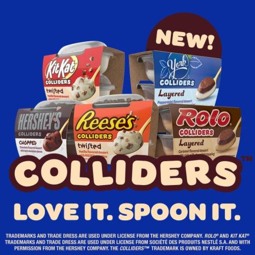 Colliders York Layered Peppermint & Dark Chocolate Refrigerated Dessert Perspective: top