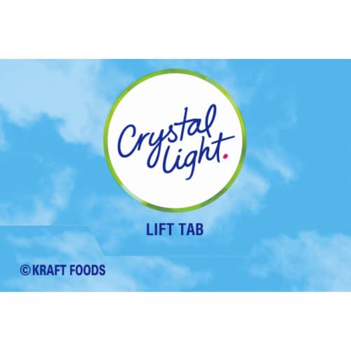 Crystal Light Rasperry Green Tea On-The-Go Drink Mix Packets Perspective: top