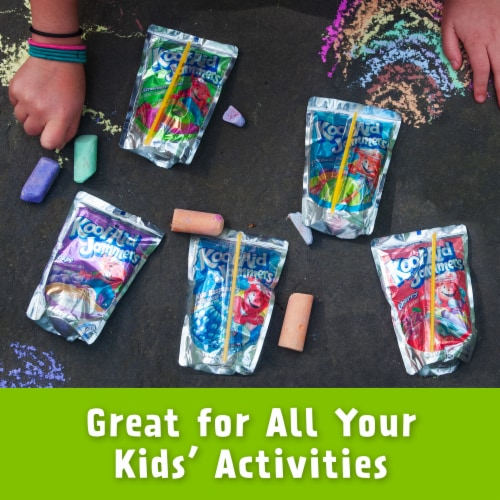 Kool-Aid Jammers Strawberry Kiwi Flavored Drink Pouches Perspective: top