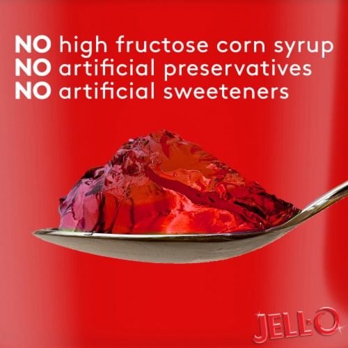 Jell-O Strawberry Gelatin Snacks Value Pack Perspective: top