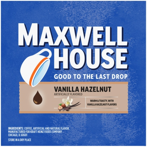 Maxwell House Vanilla Hazelnut Coffee K-Cup Pods Perspective: top