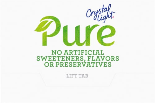 Crystal Light Pure Tropical Blend Drink Mix Perspective: top